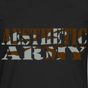 Aesthetic Army Hoodies - Men's Premium Long Sleeve T-Shirt