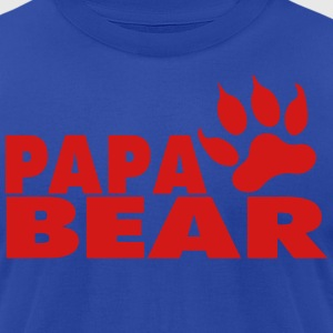 PAPA BEAR - Men's T-Shirt by American Apparel