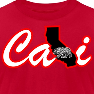 CALI Bear MAP Hoodies - Men's T-Shirt by American Apparel