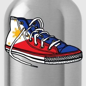 Pinoy Runner Womens Filipino Tshirt - Water Bottle