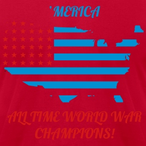 'Merica All time world war champions - Men's T-Shirt by American Apparel