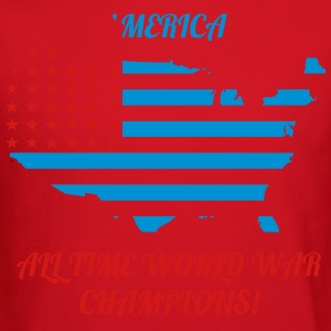 'Merica All time world war champions - Crewneck Sweatshirt