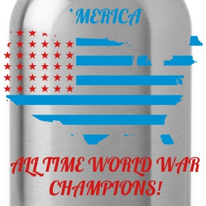'Merica All time world war champions - Water Bottle