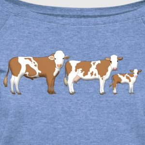 cows 2 T-Shirts - Women's Wideneck Sweatshirt