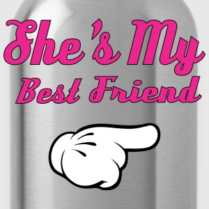 She's My Best Friend T-Shirts - Water Bottle