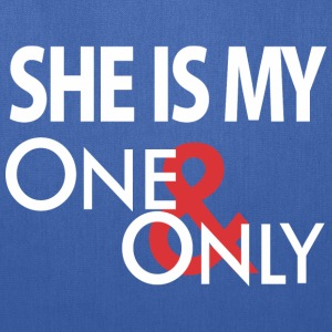 She's My One Only Hoodies - Tote Bag