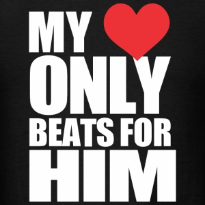 My Heart Beats for Him - Men's T-Shirt