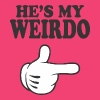 He's My Weirdo Women's T-Shirts - Women's V-Neck T-Shirt