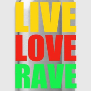 live love rave - Water Bottle