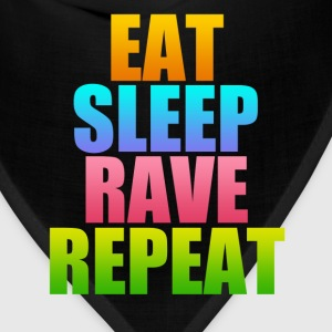 eat sleep rave repeat - Bandana