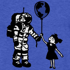 Astronaut Girl and the world Sweatshirts - Fitted Cotton/Poly T-Shirt by Next Level