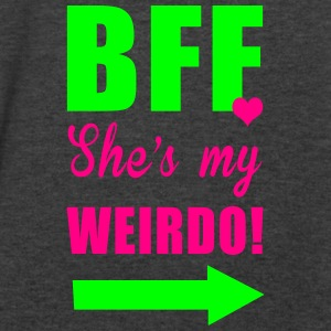 bff shes my weirdo Tanks - Men's V-Neck T-Shirt by Canvas