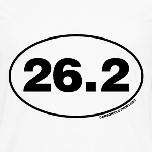 26.2 Miles Oval - Men's Premium Long Sleeve T-Shirt