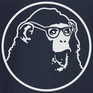 nerd ape with glasses Tanks - Men's Long Sleeve T-Shirt