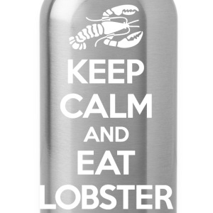 Keep Calm Eat Lobster White Bags & backpacks - Water Bottle