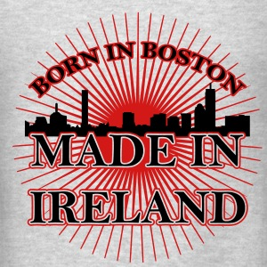 Born in Boston Made in Ireland hoodie - Men's T-Shirt