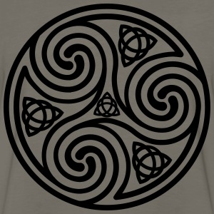 Triple Spiral Man T-shirt - Men's Premium Long Sleeve T-Shirt