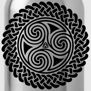 Triple Spiral in Celtic band hoodie - Water Bottle