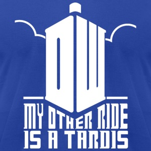 Ride the Tardis - Men's T-Shirt by American Apparel