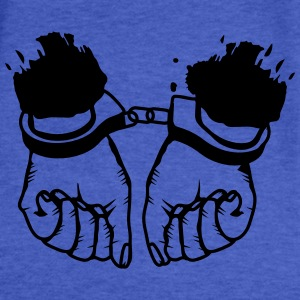 Hands and handcuffs Sweatshirts - Fitted Cotton/Poly T-Shirt by Next Level