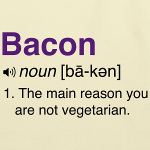 Bacon Definition T-Shirts - Eco-Friendly Cotton Tote