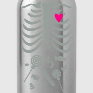 Ribcage with Candy Belly Kids' Shirts - Water Bottle