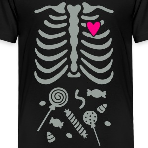 Ribcage with Candy Belly Kids' Shirts - Toddler Premium T-Shirt