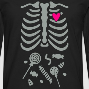 Ribcage with Candy Belly Kids' Shirts - Men's Premium Long Sleeve T-Shirt