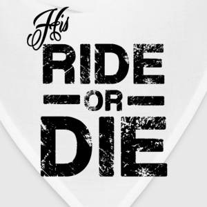 His Ride Or Die Black Women's T-Shirts - Bandana