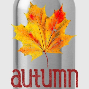 Old Vintage Autumn Leaf T-Shirts - Water Bottle