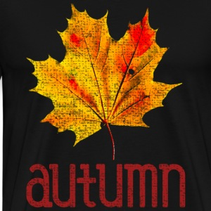Old Vintage Autumn Leaf Long Sleeve Shirts - Men's Premium T-Shirt