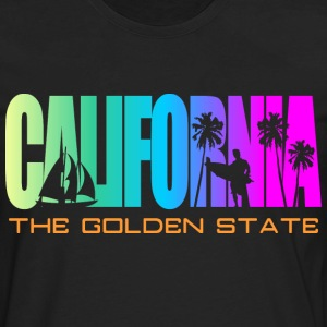 California Beach Golden State T-Shirts - Men's Premium Long Sleeve T-Shirt