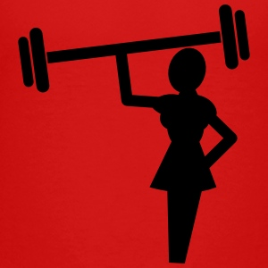 woman weightlifter lifting weights Kids' Shirts - Toddler Premium T-Shirt