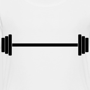 Gym Dumbbell (long) Barbell Weight Athletics 1c Kids' Shirts - Toddler Premium T-Shirt