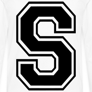 Letter S T-Shirts - Men's Premium Long Sleeve T-Shirt
