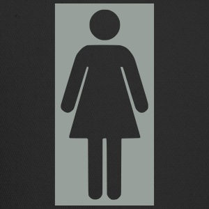 bathroom figure female .0_ T-Shirts - Trucker Cap