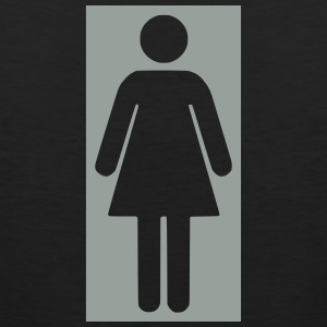 bathroom figure female .0_ T-Shirts - Men's Premium Tank