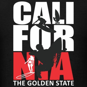 California Surfing The Golden State Tanks - Men's T-Shirt