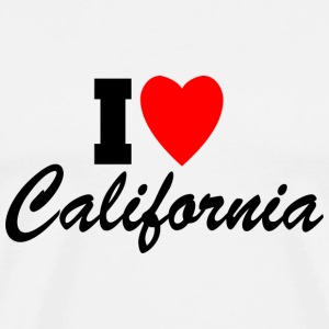 I Heart California Tanks - Men's Premium T-Shirt