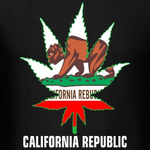 Weed California Republic Hoodies - Men's T-Shirt