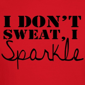 I Don't Sweat, I Sparkle fitted tank - Crewneck Sweatshirt