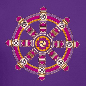 Dharma Wheel of Fortune, Buddhism, Chakra Women's T-Shirts - Crewneck Sweatshirt