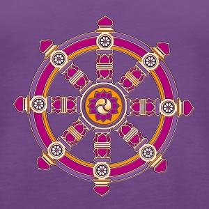 Dharma Wheel of Fortune, Buddhism, Chakra Women's T-Shirts - Women's Premium Tank Top
