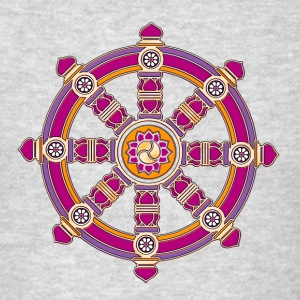 Dharma Wheel of Fortune, Buddhism, Chakra Hoodies - Men's T-Shirt