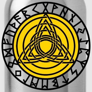 Triple Triquetra, Rune Circle, Trinity, Perfection T-Shirts - Water Bottle