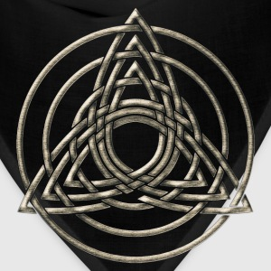 Triple Triquetra, Trinity, Symbol of perfection T-Shirts - Bandana