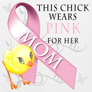 This Chick Wears Pink for her Mom T-Shirts - Men's Premium Tank
