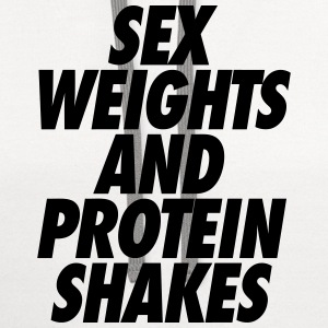 Sex Weights and Protein Shakes T-Shirts - Contrast Hoodie