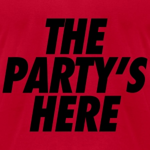 The Party's Here Long Sleeve Shirts - Men's T-Shirt by American Apparel