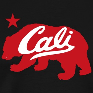 Cali Red Bear Tanks - Men's Premium T-Shirt